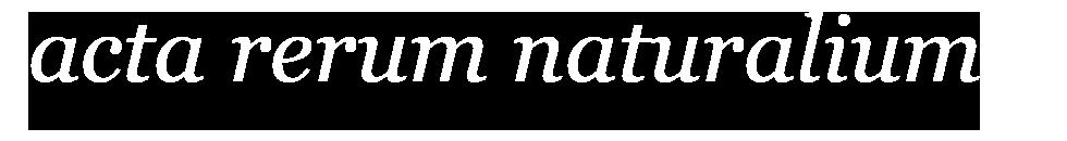 Acta rerum naturalium